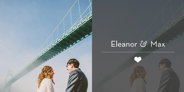 Portland Wedding Photographer - Eleanor & Max's Cathedral Park Elopement