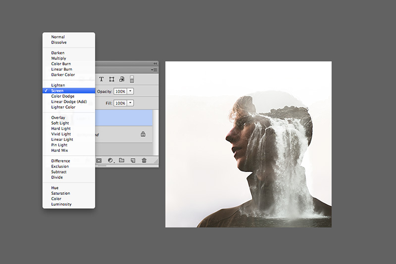 Tutorial on making double exposures in Photoshop