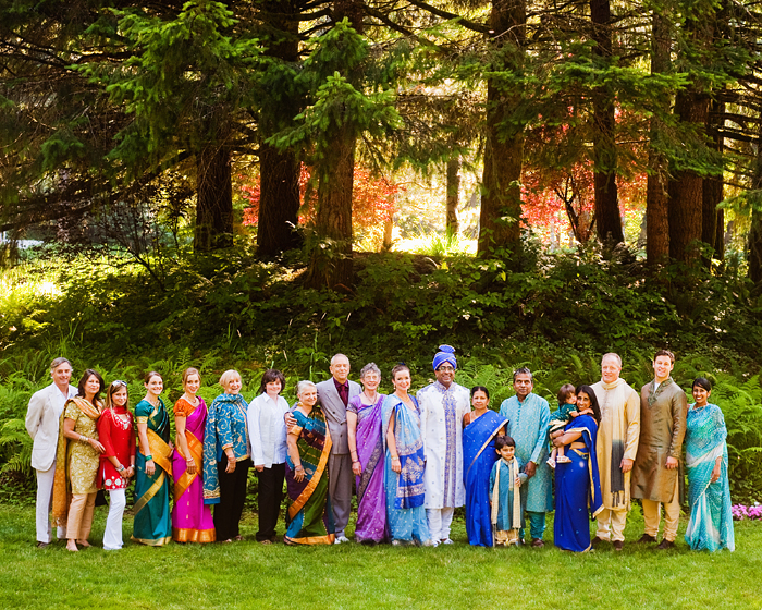 Hindu Wedding - Family Formal - Bridal Veil Lakes wedding - Portland Oregon