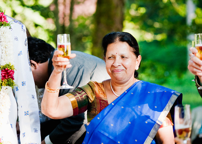 Hindu Mother of Groom toasts - Bridal Veil Lakes wedding - Portland Oregon