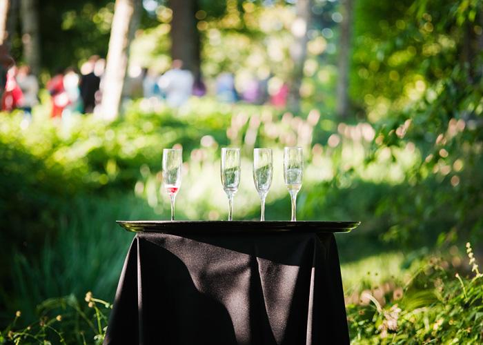 Champagne glasses - Bridal Veil Lakes Wedding - Portland Oregon