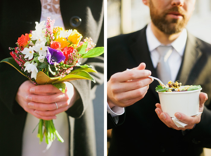 Downtown Portland Wedding: Food Carts
