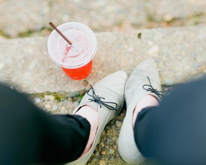 Italian Soda and Shoes - Bokeh Panorama