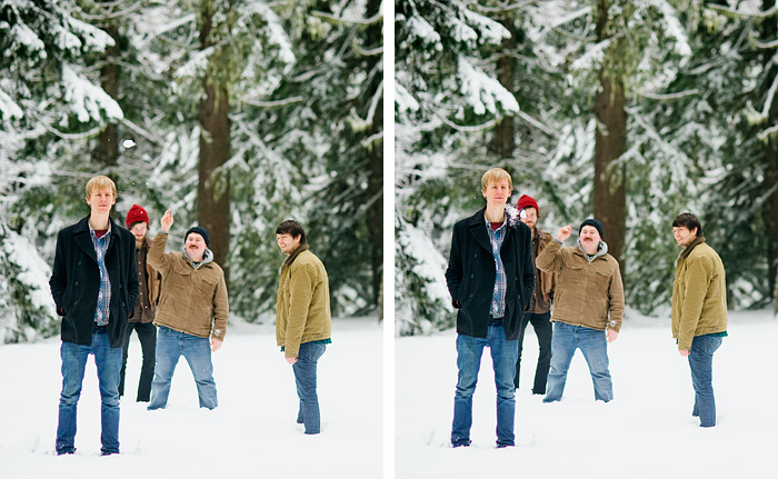 Mt Hood Oregon - Snowball Fight
