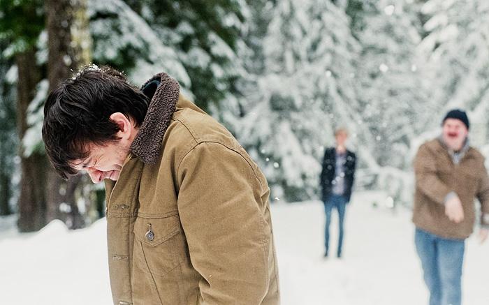 Snowball Fight - Bob Reynolds - Portland Portrait photographer