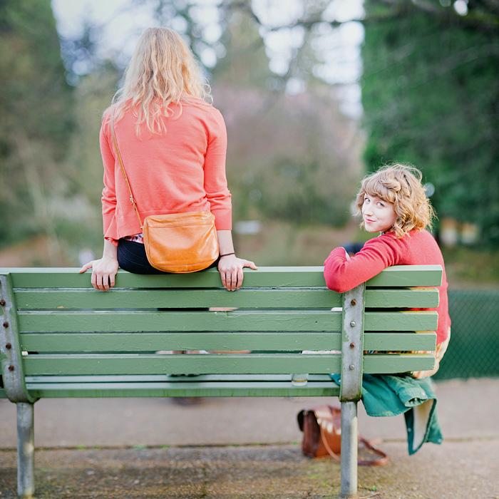 Girls in Laurelhurst Park - Portland - Bokeh Panorama - Brenizer Method