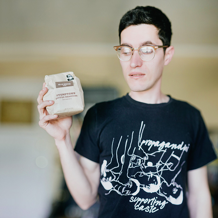 Alan holding Stumptown Beans - Portland Portrait Photographer