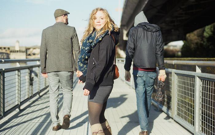 Kyle, Molly and Chris on the Eastbank Esplanade - Portland Portrait Photographer