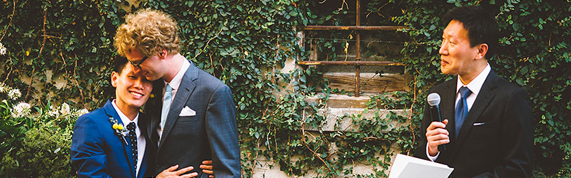 Foreign Cinema Wedding - Hung & Adrian's San Francisco Gay Wedding