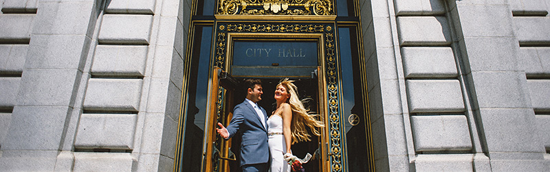 San Francisco Elopement Photographer - Laura & Ben's Courthouse Wedding
