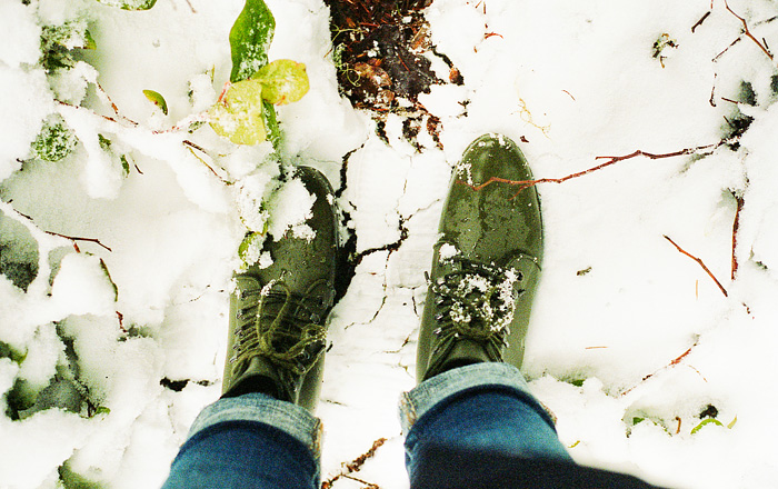 From Where I Stand - Loeffler Randall Rain Boots - Snow day in Mt. Hood