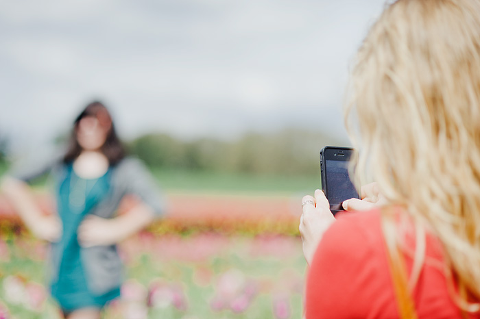 Molly Photographing Colleen with an iPhone - Portland Lifestyle Photographer