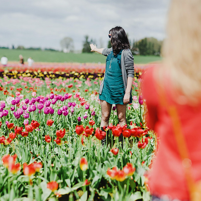 Colleen in the Wooden Shoe Tulip Farm - Woodburn, OR