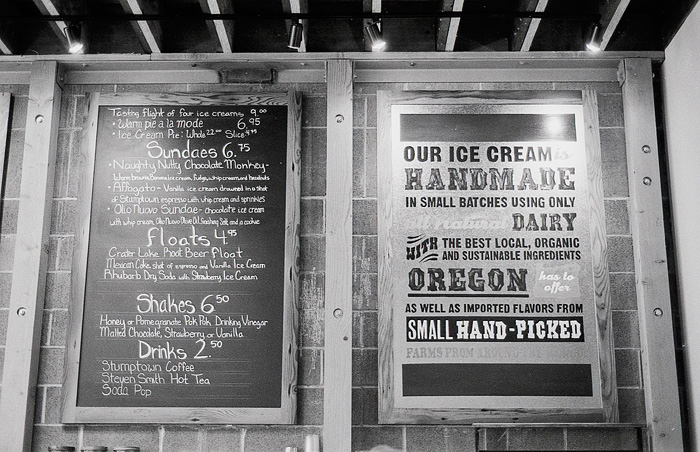 Portland Food Photographer - Menu at Salt & Straw