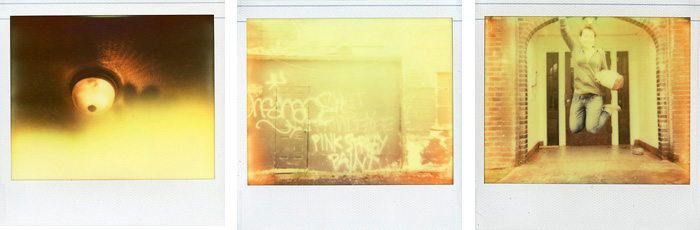 Polaroid Spectra - Impossible Project - Color Shade - Graffiti and Jumping