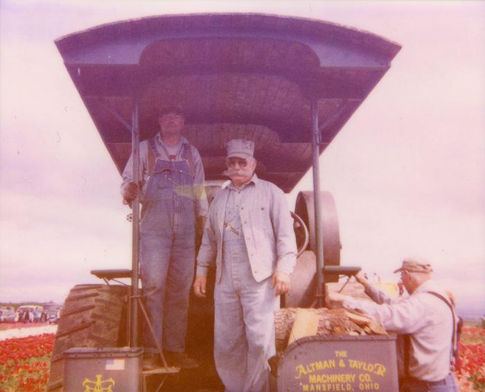 Steam Train Operators at the Wooden Show Tulip Festival - Polaroid Spectra - Expired Polaroid Film