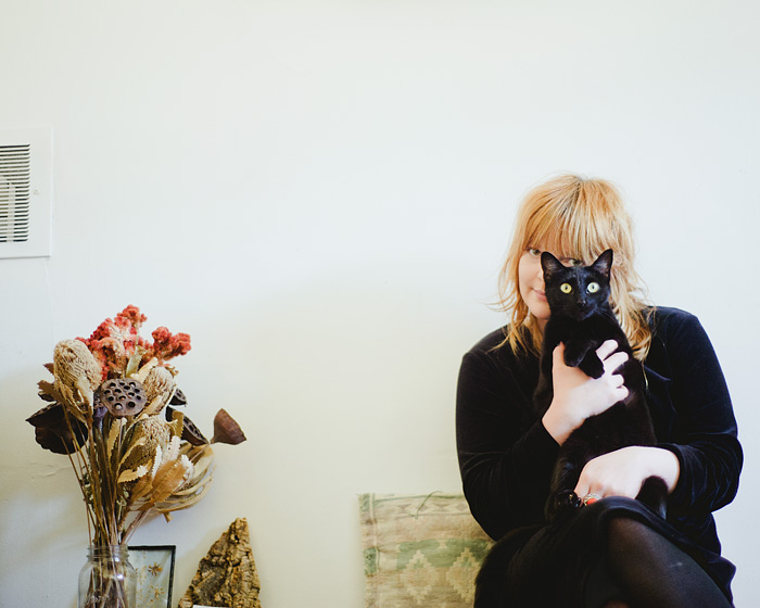 Portland Pet Photographer - Jessica Pratt and her Black Cat