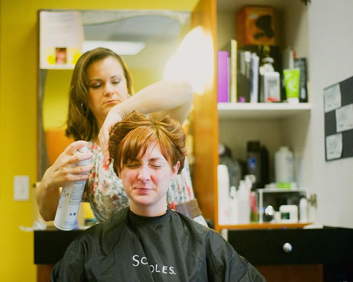 Bride at Salon