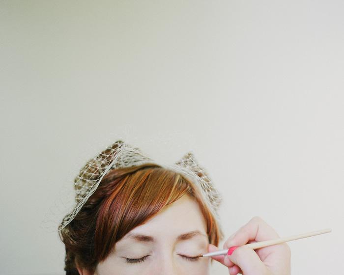 Sellwood Wedding Photographer - Bride Putting on Make-Up