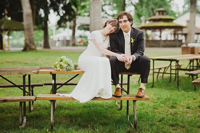 Sellwood Wedding Photographer - Oaks Amusement Park - Bokeh Panorama