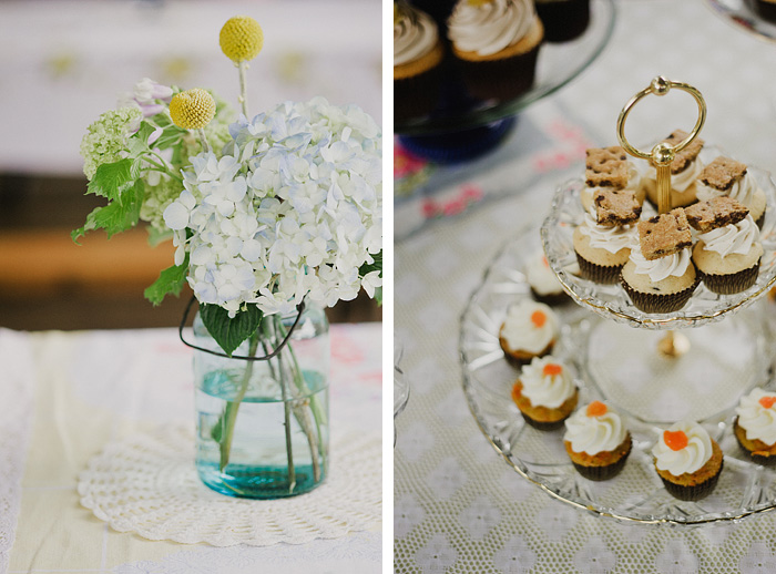 Oaks Amusement Park Wedding Reception - Sellwood, OR - Cupcakes and Flowers