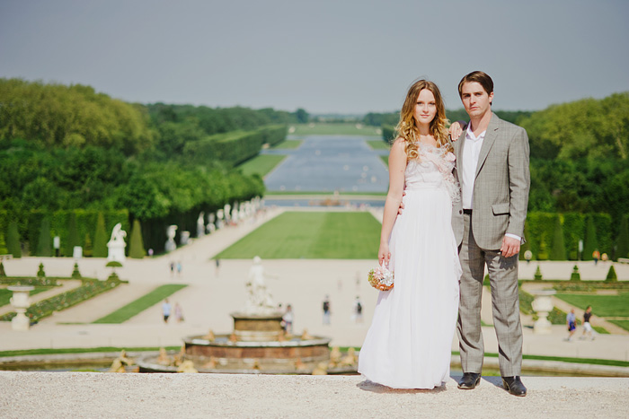 Destination Paris Elopement - Newlyweds in the Gardens of Versailles