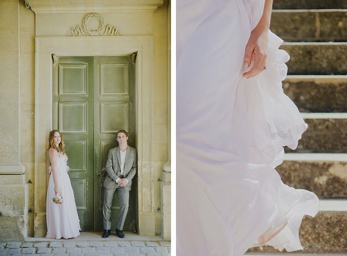 Paris Elopement Photographer - Newlyweds at the Palace of Versailles