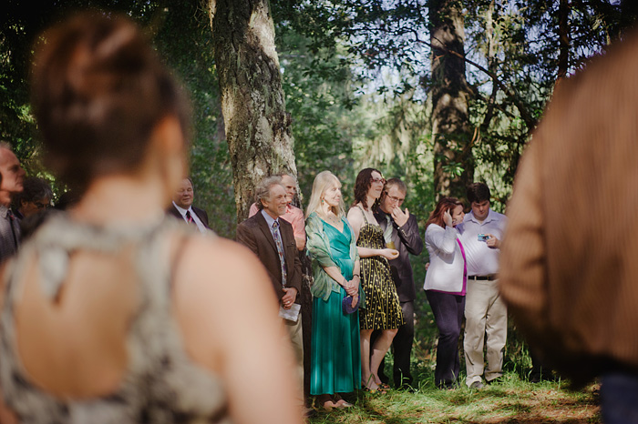 Guests at Camp Royaneh Wedding Ceremony - Cazadero, CA