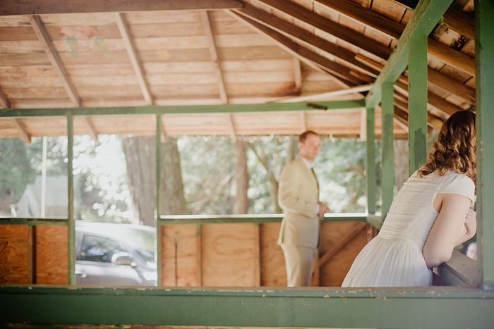 Bride and  Groom in Camp Royaneh cabins