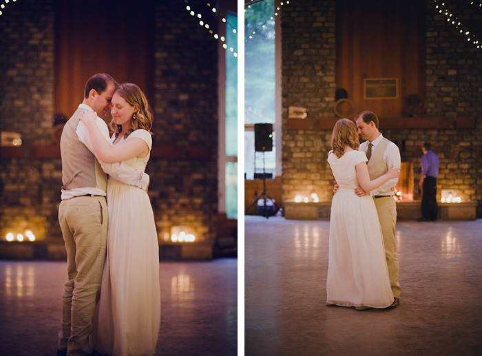 Bride and Groom's First Dance in Camp Royaneh Mess Hall