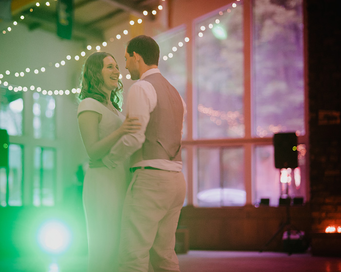 Bride and Groom's First Dance - Camp Royaneh - Bay Area Wedding Photographer