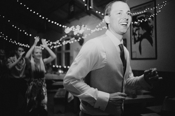 Groom dancing in the mess hall - Camp Royaneh
