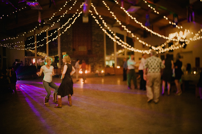 Dancing in the Mess Hall at Camp Royaneh - Bay Area Wedding Photographer