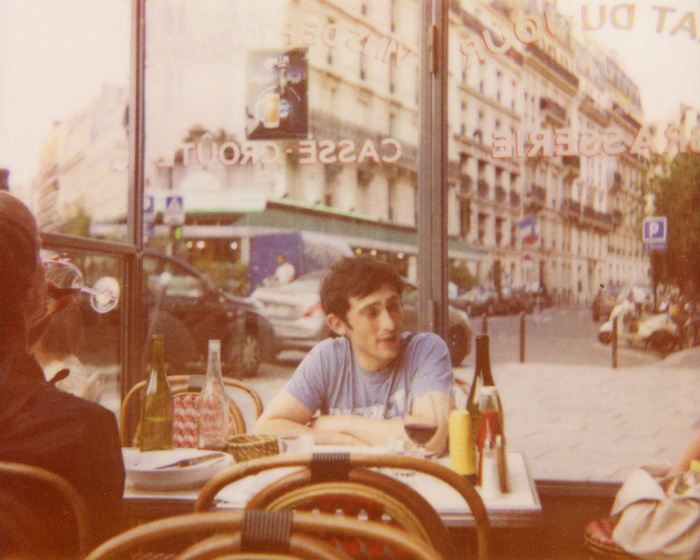 Polaroid Spectra Film - Dinner at Le Cafe Parisien - Paris, France