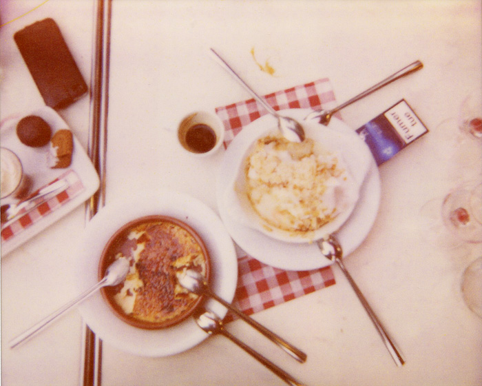 Polaroid Spectra Film - Dessert at  Le Cafe Parisien - Paris, France