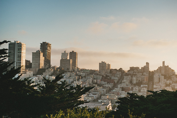 Portland Lifestyle Photographer - Sunset over San Francisco, CA - view from Coit Tower