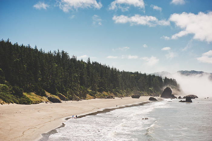 Portland Lifestyle Photographer - View of the beach from Battle Rock, OR