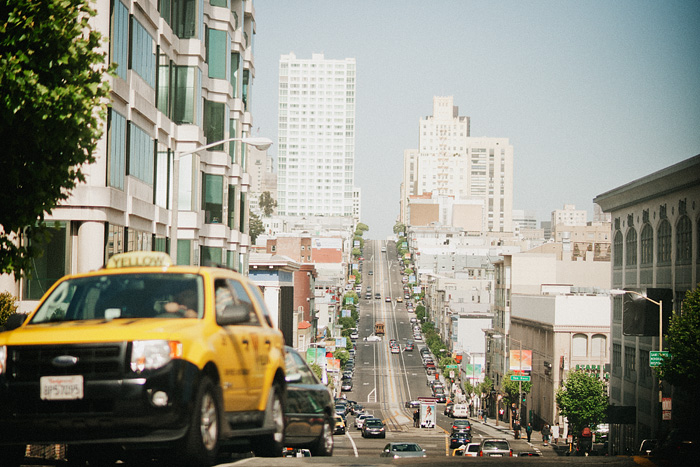 San Francisco Photographer - Traffic on a Busy Street