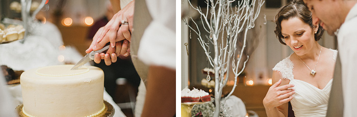 Redding Wedding Photographer - McCloud Mercantile Inn - Cake Cutting