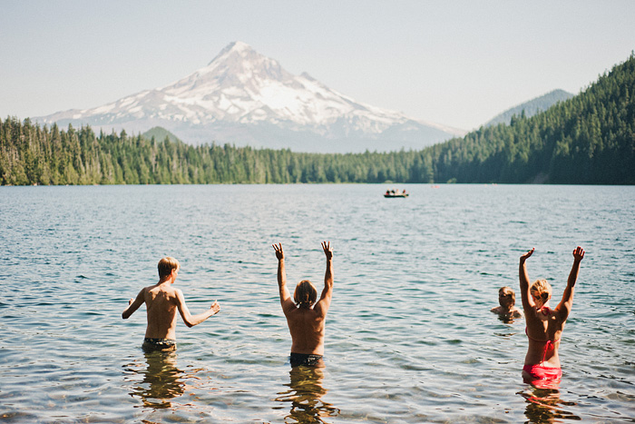 Portland Lifestyle Photographer - Swimming at Lost Lake