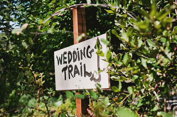 Sign leading to wedding on the Smith River - Gasquet, CA