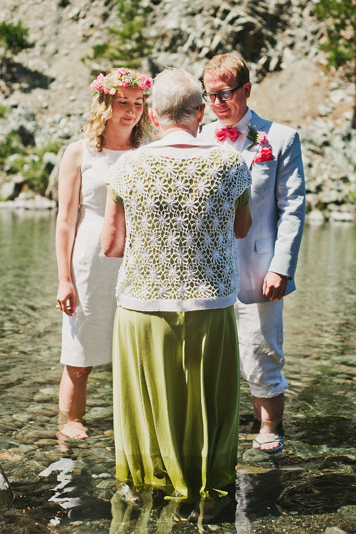 Exchanging vows at a Smith River Wedding - Gasquet, CA