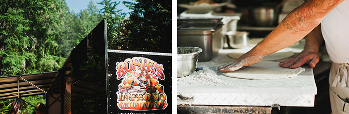 Rosie's Inferno Wood Fired Pizza Truck - Intimate Backyard Wedding - Gasquet, CA