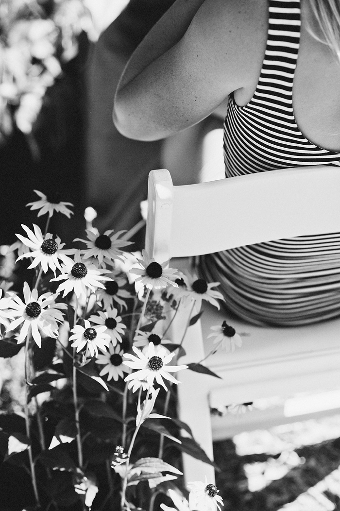 Stripes and flowers  - Intimate Backyard Wedding - Gasquet, CA