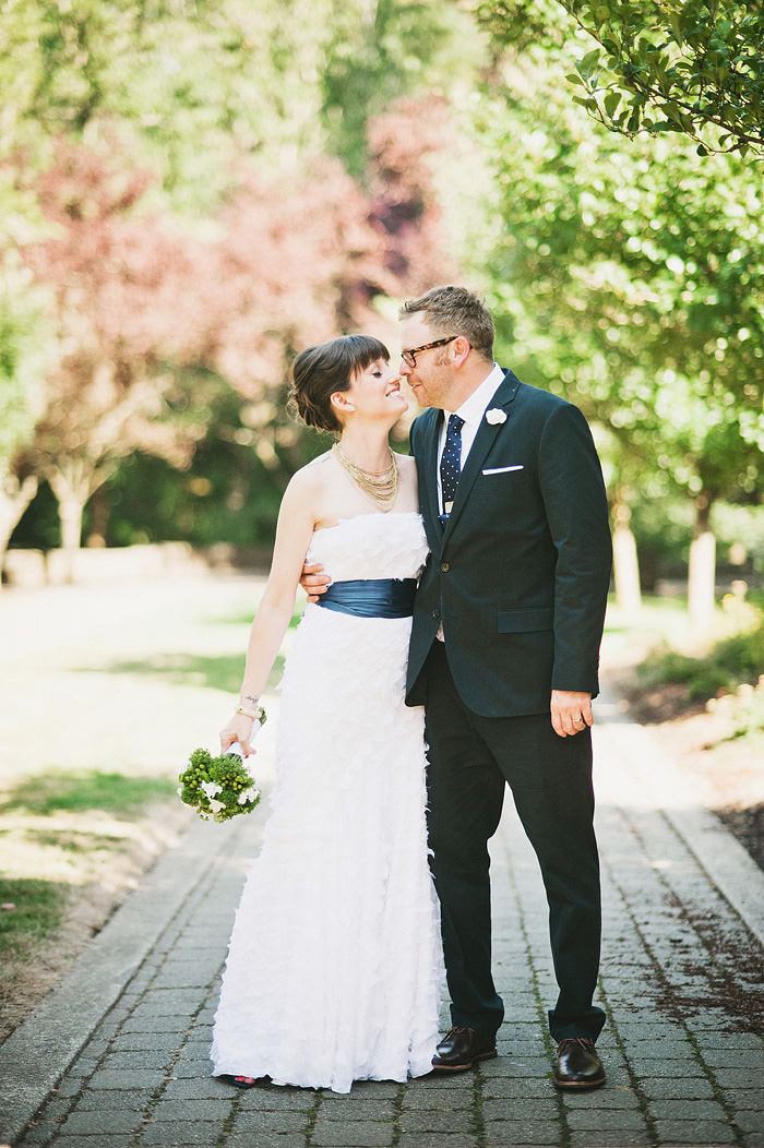 Portland Oregon Wedding Photographer - Bride and Groom Portrait at the World Forestry Center
