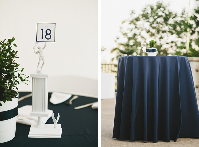 Portland Oregon Wedding Photographer - Tennis Trophy Centerpieces - World Forestry Center Reception