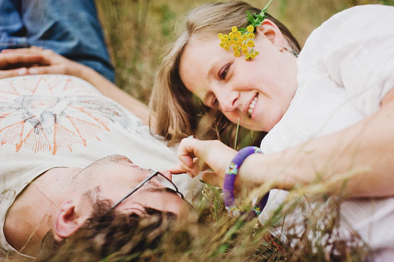 Salem Wedding Photographer - Bride and Groom kissing in a field in Jawbone Flats - Opal Creek Ancient Forest