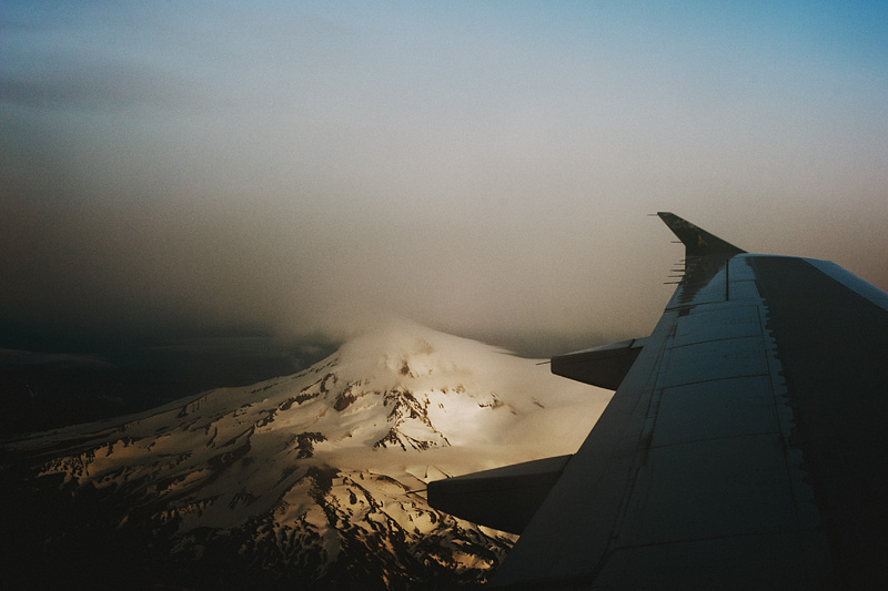Paris wedding photographer - Flying home to Portland, OR - Mt Hood