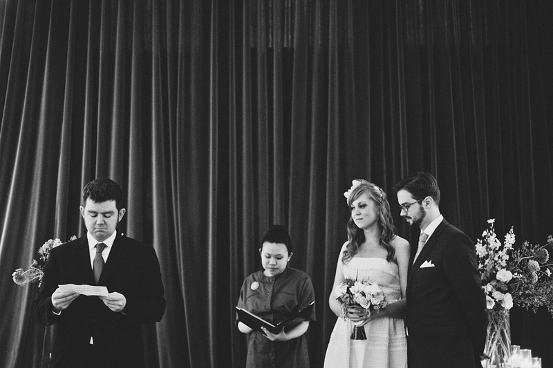 San Francisco Wedding Photographer - Ceremony at Modernism West in Foreign Cinema