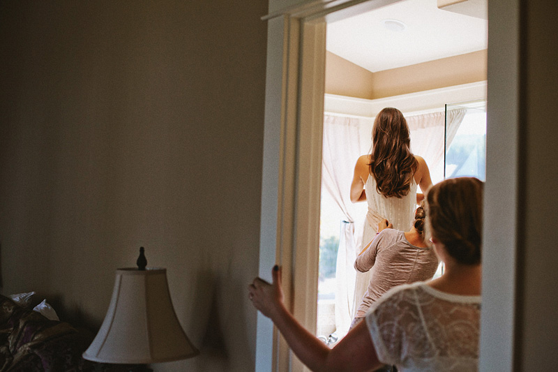 Tillamook Wedding Photographer - Bride getting ready in her home in Netarts, OR